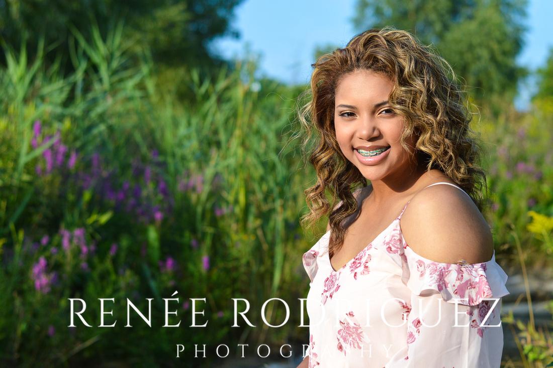 Detroit Riverfront Senior Portrait Session
